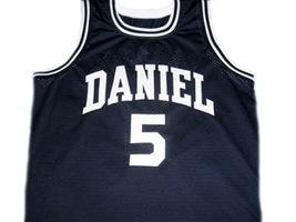 Pete Maravich #5 Daniel High School Men Basketball Jersey Navy Blue Any Size image 4