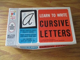 Vintage Milton Bradley Co. Learn to write Cursive Letters, 1966 - $13.99