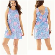 Medium NWT Lilly Pulitzer NWT Kristen Dress Blue Haven Raising Shell Bea... - $97.02