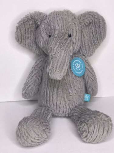 Primary image for Manhattan Toy Company Adorables Elephant Grey Ribbed Plush Stuffed Animal NEW