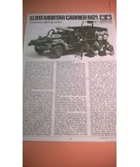 Tamiya U.S. 81mm Mortar Carrier M21 Model Instructions - $6.00
