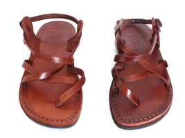 Leather Sandals for Men and Women GLADIATOR by SANDALIM Biblical Greek S... - $39.44 CAD+