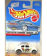 1998 Hot Wheels #731 Artistic License Series 3/4 VW BUG White w/Chrome 5... - $8.00