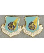 Pacific Air Forces PACAF USAF DUI Unit Insignia Crest Enamel Pinback Pair - $21.78