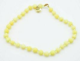 Genuine Yellow Sponge Coral Bead Beaded Glass Choker Necklace Vintage - $24.74