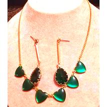 Gorgeous VTG. Heart Necklace & Earrings - $21.78