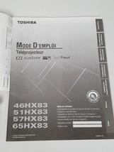 2003 TOSHIBA TV OWNERS MANUAL 46HX83 51HX83 57HX83 65HX83 (Spanish Version) - $9.99