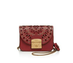 NEW Furla Metropolis Bolero Maroon Red Crossbody Mini Bag - $395.00