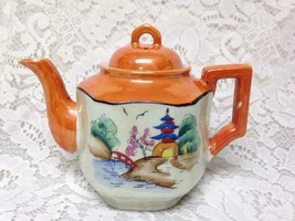 Vintage, Rare, Made in Japan,  Gaudy Blue Willow Teapot 6in T x 8in Wx 5in D - $75.95
