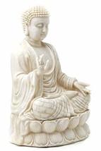 Bellaa 23279 Buddha Statues Blessing Sitting Meditating Antique White 12... - $47.28