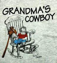 T-Shirt GRANDMA'S COWBOY Western Grandson Boy Grandmother Stick Horse Chair - $6.64 - $8.54