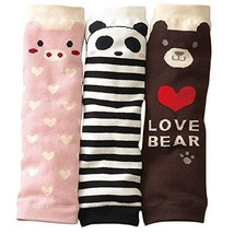 3 Pieces Cute Animals Baby Leg Wamers Toldder Leg Guards,11'',Random Style