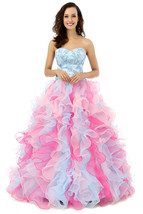 Pink Quinceanera Dress Gown,Ball Gown Prom Dresses,Sweet 16 Dress Cheap  - $229.00
