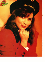 Paula Abdul teen magazine pinup clipping red suit black hat 90's Big bopper