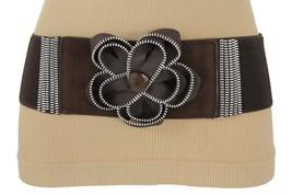 Sexy Women Belt Hip Waist Silver Metal Zipper Big Flower Charm Fashion B... - $14.69