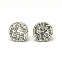 18K WHITE GOLD EARRINGS, CENTRAL AND FRAME DIAMONDS, FLOWER, 0.21 CARATS image 2