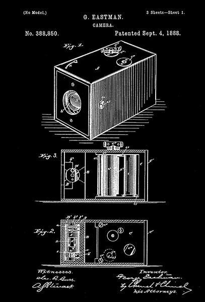 Primary image for 1888 - Camera - G. Eastman - Patent Art Poster