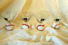 Circle Ware Home Run Set Of 4 Baseball Cordials In Box - $13.16