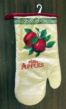 "Cotton Printed 13"" Jumbo Oven Mitt, FRESH PICKED APPLES,  red back by BH - $7.91"