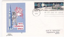 SPACE ACHIEVEMENT FDI HOUSTON, TX AUGUST 2, 1971 COLONIAL CACHET - $1.98