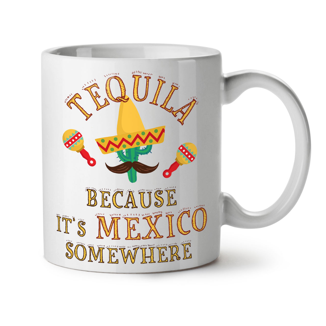 Primary image for Tequila Mexico Cactus NEW White Tea Coffee Mug 11 oz | Wellcoda