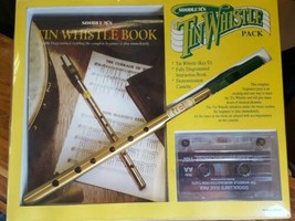 Vintage SOODLUM'S TIN WHISTLE PACK Book CASSETTE & Whistle Key D made Ir... - $14.75
