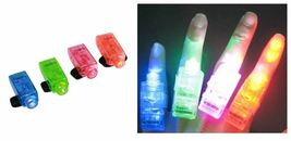 LED FINGER LIGHTS LAMPS PARTY LASER TORCH GLOW RING - RANDOM COLOR image 4