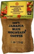 100 Percent Jamaica Blue Mountain Coffee Ridgelyne Roasted & Ground Organic 4 oz - $17.75