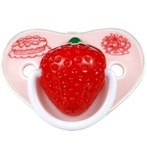 Lovely Strawberry Baby Pacifier Infant Silicone Newborn Nipple
