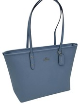 *NWT*COACH CITY ZIP IN CROSSGRAIN LEATHER COMFLOWER TOTE BAG - $189.09