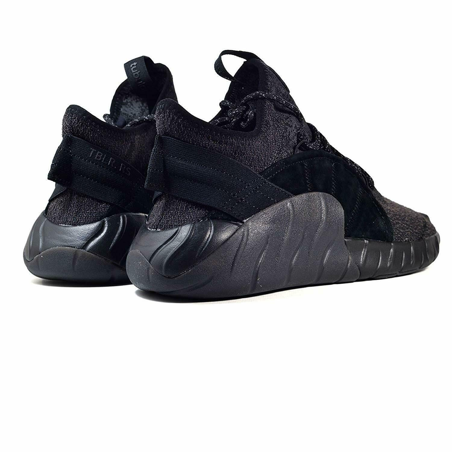 Adidas Tubular Rise Core Black Red BY3557 Mens Casual Shoes Size 9.5 image 3