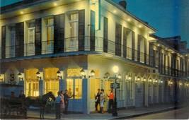 Chateau Motor Hotel New Orleans Louisiana LA Postcard Night 1960s Chrome... - $9.85