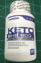 KETO BHB Diet Pill Ketones Ketogenic Weight Loss Fat Burn 800mg 60ct USA - $12.86