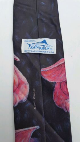 Ralph Marlin Classic Tie with Pigs from 1989 Neck Tie Great Condition