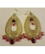 Avon 2010 Bali Bliss Pink Beaded Earrings  NIB DISCONTINUED  - $13.85