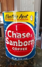Vintage Chase Sanborn Coffee Can 2 lb pounds Electric Perk - No Lid - $13.82