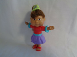 """2007 Cabbage Patch Kids Girl Doll Burger King Dark Complexion Brown Hair 4"""" - $1.49"""
