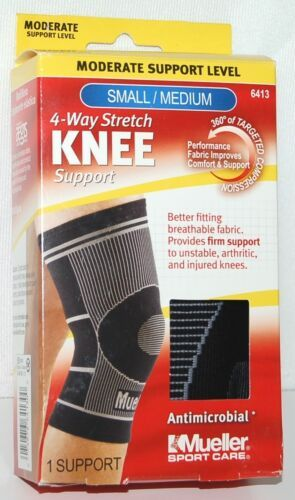 Mueller 6413 4 Way Stretch Knee Support Small Medium Ambidextrous Black