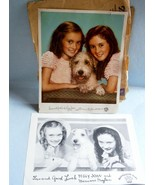 The Moylan Sisters and Rascal Premium Prints from Thrivo Dog Food, c.1930's - $19.00
