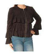 I-N-C Women's Ruffled Jacket, Black, X-Large - $33.65