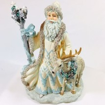 White Christmas Santa Snow Kringle Reindeer Figurine San Francisco Music... - $24.99