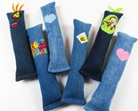 NEW- Catnip upcycled denim cat kicker toy- Great gift!