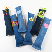 NEW- Catnip upcycled denim cat kicker toy- Great gift! - $12.95