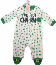 Carters St Patricks Day I've Got Charm Zip Sleep & Play Romper 6 Months ... - $22.27