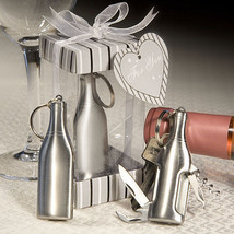 20 Wine Bottle Design Key Rings Multipurpose Bar Tools Wedding Favors Sh... - ₨3,935.03 INR