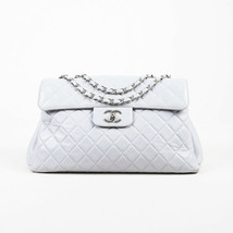 Chanel Gray Quilted Leather Flap Bag - $2,520.00