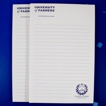 "2 University of Farmers Insurance Notepads Lined Note Paper Pads 8.5""x5.5"" - $12.99"