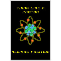 Think Like a Proton Science School Classroom Poster - £12.14 GBP