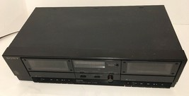 VINTAGE Sony TC-W295 Stereo Dual Cassette Tape Deck Player/Recorder UNTE... - $43.54