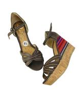 Report Women's NWOB Tequila Brown Wedges Sandals Sz 8.5 - $26.17